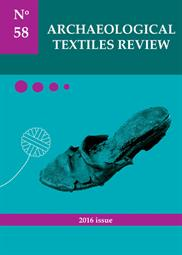 Archaeological Textiles Review No. 58, 2016